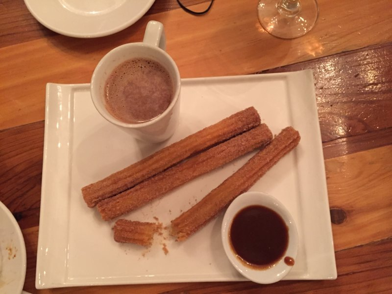 Whiskey Churros and Drinking Chocolate