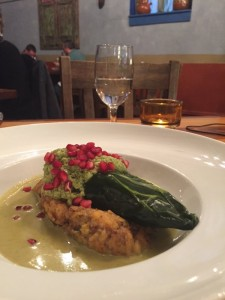 Whiskey Lobster Chili Relleno
